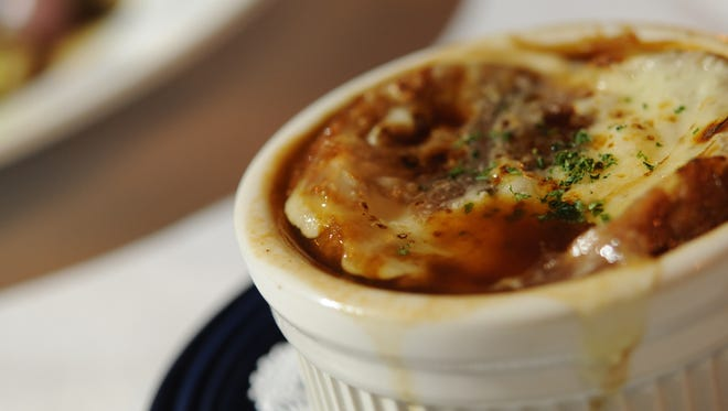 French onion soup at Bistro Montage.