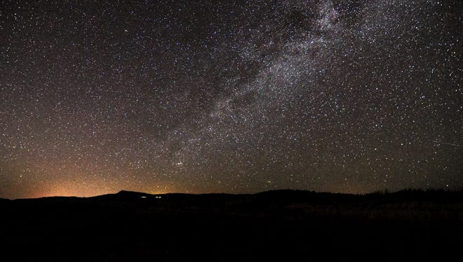The nighttime view in Southern Utah, near Brian Head and Parowan.