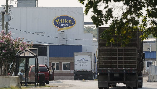 The Allen Harim poultry processing plant in Harbeson.