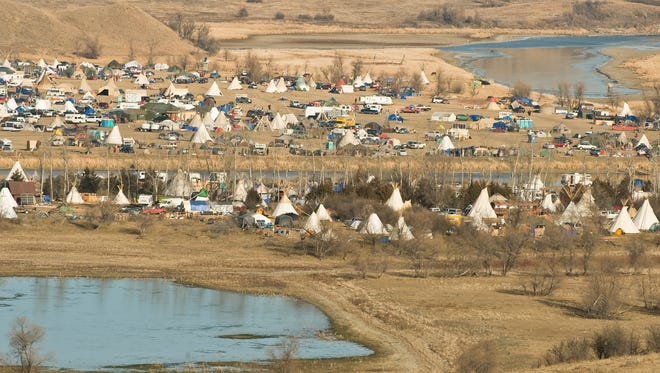 An encampment north of Cannon Ball, N.D., where protesters are fighting an oil pipeline that the Standing Rock Sioux argue would cross treaty lands, desecrate sacred burial grounds and cultural sites and put the local water supply at risk.
