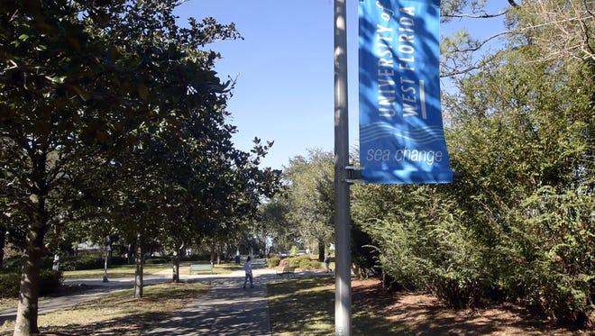 The University of West Florida campus, Wednesday, Dec. 13, 2017.