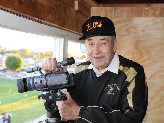 Jim Groft has filmed every Delone Catholic football