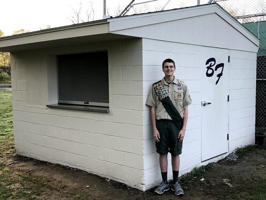 Boy Scout Jacob Harpster converted a former shed into