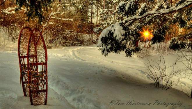 A snow covered trail at Monk Gardens on Wausau's north side.