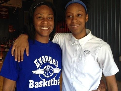 Meoka and Tiara Young are helping build the Evangel program.