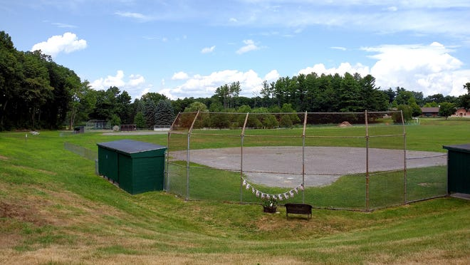 The softball and baseball diamonds at the Griffin Road sports complex, in Sterling.