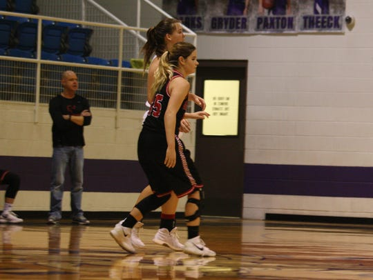 Garden City's Payton Hastings (15) was the co-MVP of District 14-1A, along with her sister Madison.