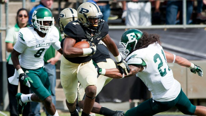 Purdue's Frankie Williams returns a punt against Eastern Michigan at Ross-Ade Stadium, in West Lafayette, on Saturday, September 15, 2012.