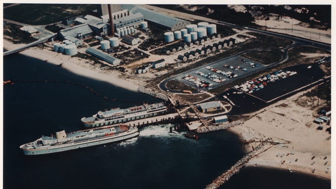The Cape-May Lewes terminal in 1966.