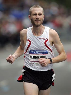 Jason Lehmkuhle at the 2008 Olympic Marathon Trials.