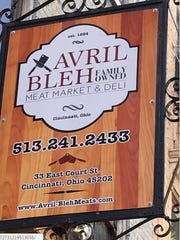 The new sign at Avril Bleh Meat Market