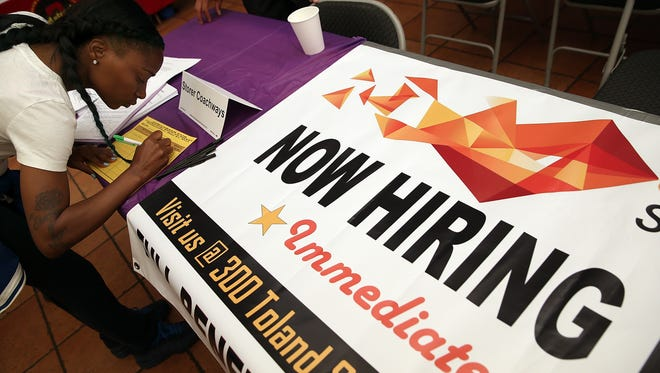 Hiring has picked up this year. (Photo by Justin Sullivan/Getty Images)  ORIG FILE ID: 492704013