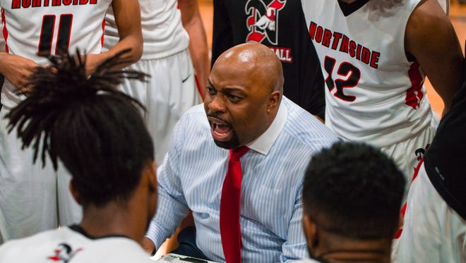 Northside coach Ross Rix leads the Vikings to the Class 4A state quarterfinals after beating Tioga on Tuesday.