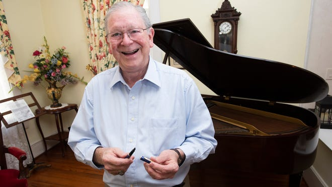Larry Reed, a faculty associate at the University of West Florida, describes the changes he has witnessed over his 56-years of teaching music Wednesday,  April 4, 2018. Reed, who is retiring at the end of this semester, received recognition for his life's work in January.