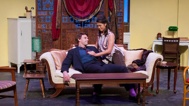 """Taylor Filaroski, right, and Jeff Hoh star in Tallahassee Theatre's comedy """"Barefoot in the Park."""""""