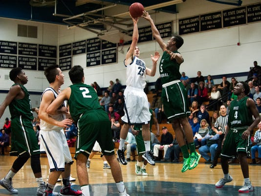 Rice vs. Burlington Boys Basketball 12/09/14