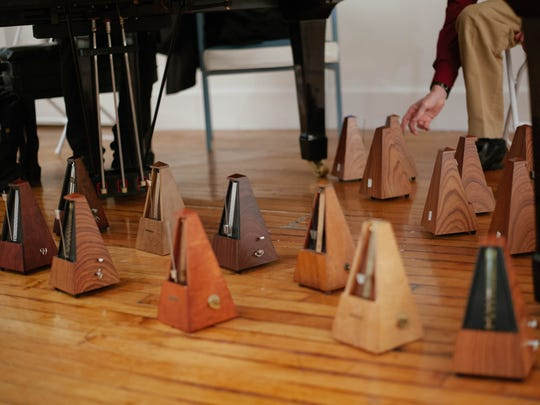 """Metronomes play a leading role in Present Music's """"Giants in the Chamber"""" concerts."""