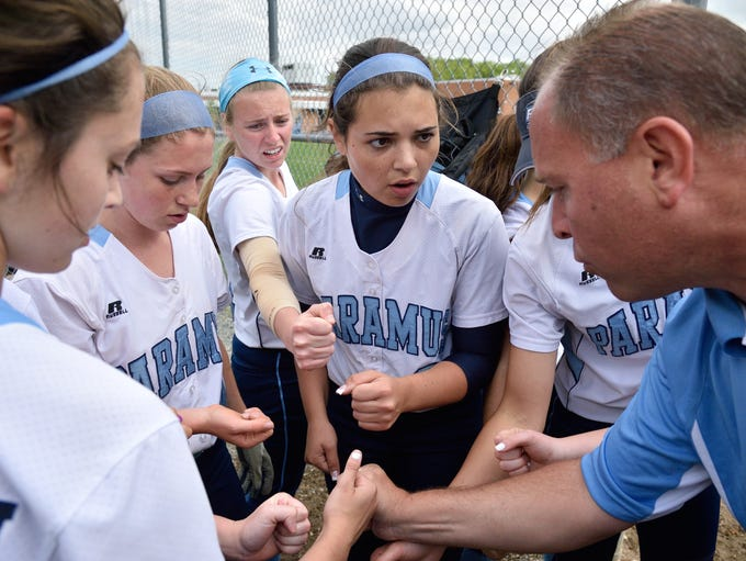 Paramus coach Brian Hay gets his team ready to take