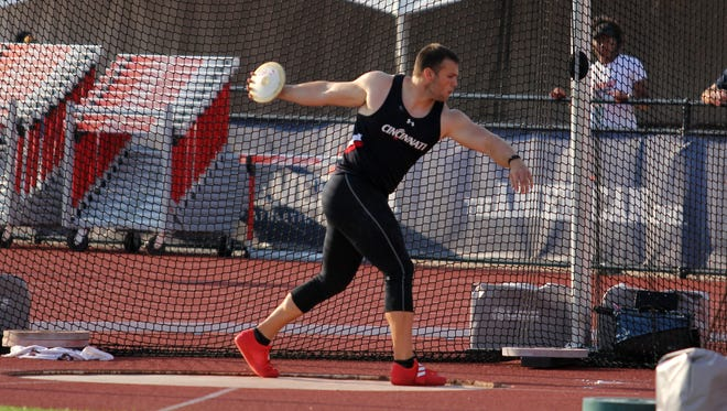 University of Cincinnati discus thrower Macklin Tudor (Western Brown High School) is among the  school-record number of athletes heading to the NCAA Outdoor Track & Field Championships June 7-10 in Eugene, Oregon.