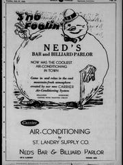 An ad for Ned's that ran in the Daily World in 1948,