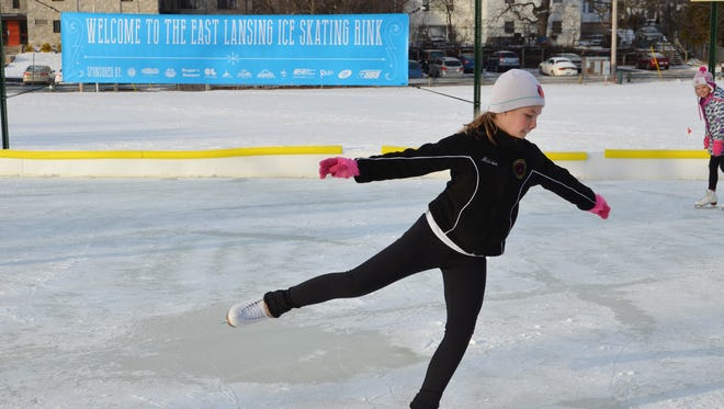 The City of East Lansing's pop-up ice skating rink will be free and available to the public through Feb. 28.