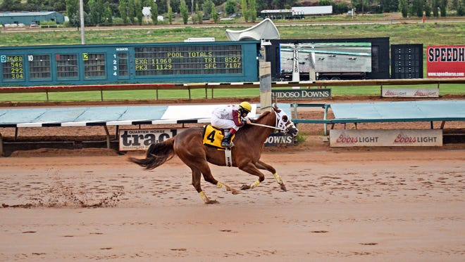 Hold Air Hostage earned the top qualifying time for the Rainbow Derby later this month in Ruidoso.