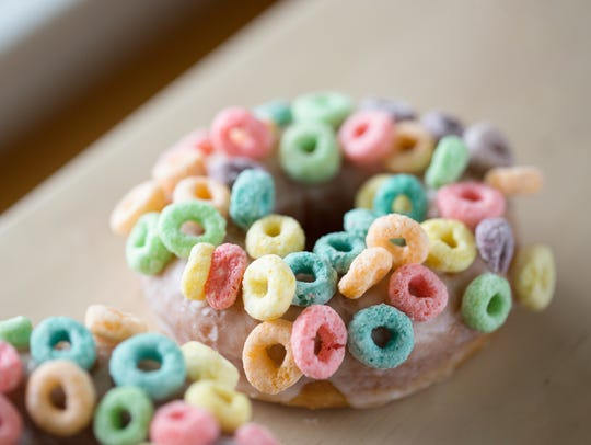 A Froot Loops cereal donut will be one of the offerings