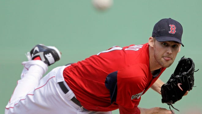 Daniel Bard throws for the Red Sox during a 2012 spring training game against the Baltimore Orioles in Fort Myers, Florida.