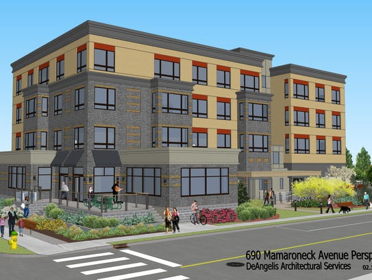 A rendering of a new mixed-use development planned