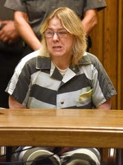 Joyce Mitchell is sentenced Monday in Clinton County Court in Plattsburgh, for helping two convicted murderers escape from a maximum-security lockup by providing them with tools, was sentenced Monday to up to seven years behind bars.