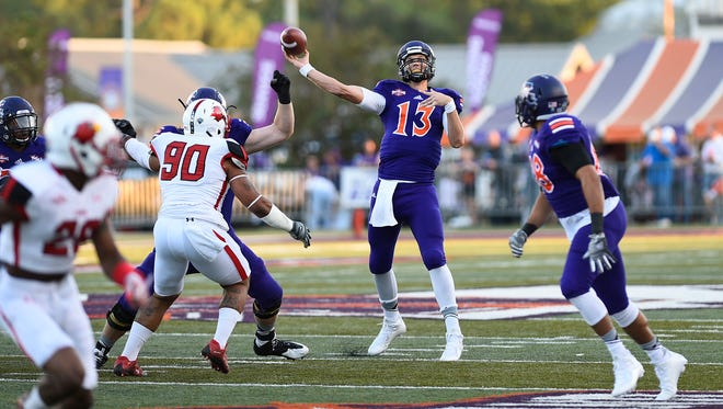 Northwestern State's Stephen Rivers throws a pass against Lamar on Saturday.