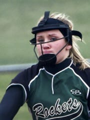 Taryn Miller throws a pitch for James Buchanan, which