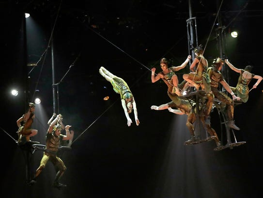 Cirque du Soleil, pictured from the OVO dress rehearsal at Royal Albert Hall on January 9, 2018, will be performing at the Talking Stick Resort Arena in Phoenix from March 8-11.