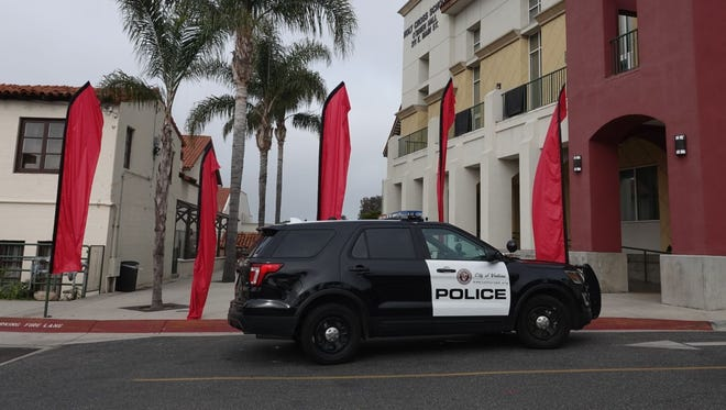 STAR FILE PHOTO Ventura police near buildings belonging to Mission San Buenaventura.