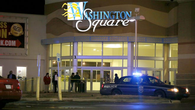 Images from Washington Square Mall on Wednesday, Oct. 28, 2015, after a shooting injured three.