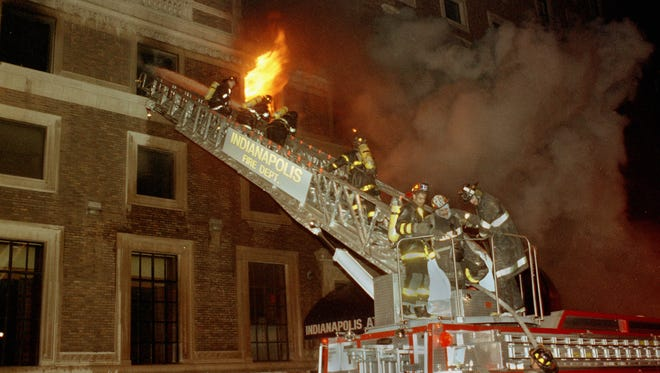 Three people, including two firefighters, died in the Indianapolis Athletic Club fire on Feb. 5, 1992.