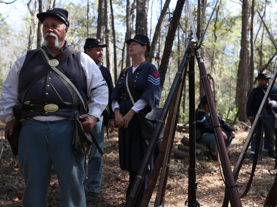 Civil War re-enactors act as living historians at the Natural Bridge Battlefield Historic State Park for last year's annual battle reenactment at the site, commemorating the 153rd anniversary of the battle 12 miles south of Tallahassee.  The 42nd reenactment will be this weekend.