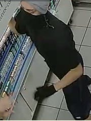 Authorities were looking for a man suspected of robbing