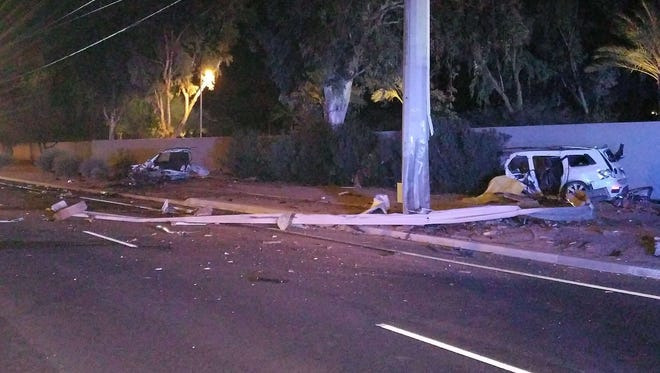 The driver of a vehicle was pronounced dead at the scene after crashing into a pole on Scottsdale Road just north of Doubletree Ranch Road Jan. 18, 2018, according to Scottsdale Police Department.
