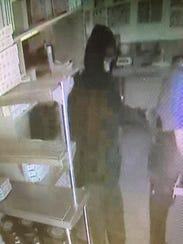 The Salisbury Domino's robbery suspect is shown in