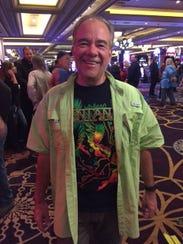 Phil Bonnet outside the Santana concert at Las Vegas'