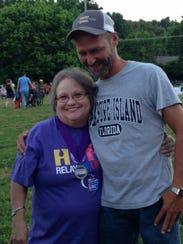 Sherri Schmidt, a cancer survivor, at last year's relay