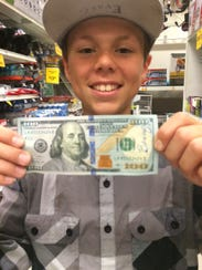 A mystery philanthropist is leaving $100 bills around