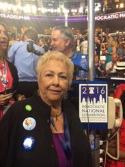 Delegate Ginny Foat of Palm Springs at the 2016 Democratic