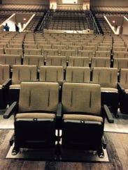 New seating at the Kickapoo High School auditorium.