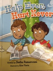 """The cover of """"Help Ever, Hurt Never,"""" one of Sudha"""