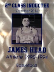 James Head's plaque in the Salem Wall of Champions.
