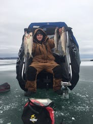 C.J. Compton with a nice mess of whitefish.