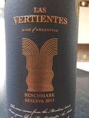 Las Vertientes 2013 from Mendoza, Argentina, contains