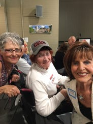 From left, Stella Ellis, Mary Jackson and Barbara Coffield